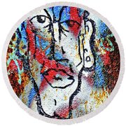 Round Beach Towel featuring the photograph Cleft Chin by Ethna Gillespie