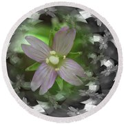 Round Beach Towel featuring the photograph Clematis by Keith Elliott