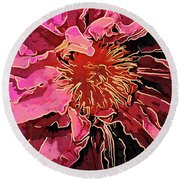 Clematis Up Close And Personal Round Beach Towel