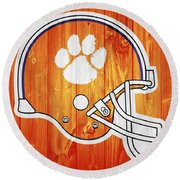 Clemson Barn Door Round Beach Towel