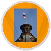 Clemson Flag At State House Round Beach Towel