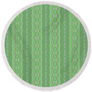 Round Beach Towel featuring the photograph Cleome Shower Curtain by Debbie Stahre