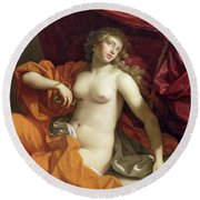 Cleopatra Round Beach Towel by Benedetto the Younger Gennari