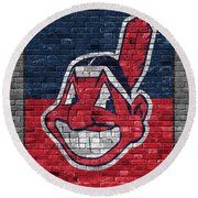 Cleveland Indians Brick Wall Round Beach Towel
