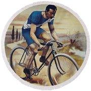 Cleveland Lesna Cleveland Gagnant Bordeaux Paris 1901 Vintage Cycle Poster Round Beach Towel