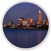 Cleveland Ohio Round Beach Towel