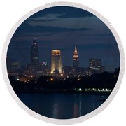 Cleveland Reflections Round Beach Towel