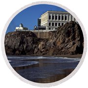 Cliff House San Francisco Round Beach Towel
