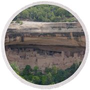 Cliff Palace Mesa Verde Round Beach Towel