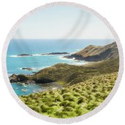 Cliffs And Capes Round Beach Towel