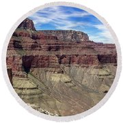 Cliffs In The Grand Canyon Round Beach Towel