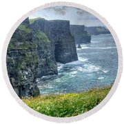 Round Beach Towel featuring the photograph Cliffs Of Moher by Alan Toepfer