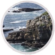 Cliffs Overlooking Donegal Bay Round Beach Towel