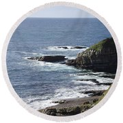 Cliffs Overlooking Donegal Bay II Round Beach Towel