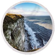 Round Beach Towel featuring the photograph Cliffside View by Anthony Baatz