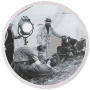 Clifton Young And Bogie Fight To The Death Dark Passage 1947-2016 Round Beach Towel