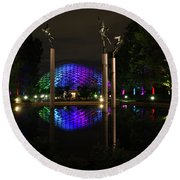 Round Beach Towel featuring the photograph Climatron 2017 by Andrea Silies