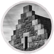 Round Beach Towel featuring the photograph Climbing The Castle by Christi Kraft