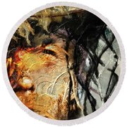 Clint Eastwood Round Beach Towel by Michael Cleere