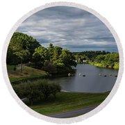 Clinton Dam Round Beach Towel