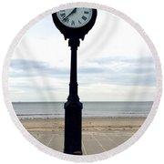 Clock 101 Round Beach Towel