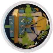 Clock Round Beach Towel
