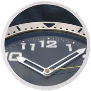 Clock Face Round Beach Towel by Rob Hans