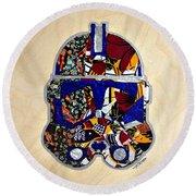 Clone Trooper Star Wars Afrofuturist Round Beach Towel