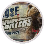 Close Encounters Bear Round Beach Towel