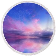 Close To Infinity Round Beach Towel