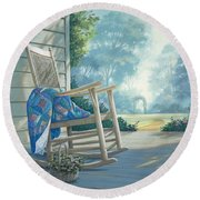 Close To My Heart Round Beach Towel