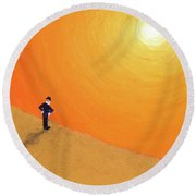 Close To The Edge Round Beach Towel
