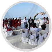 Close Up Kenya Baach Wedding Round Beach Towel