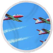 Close-up Of Canadian Snowbirds Over Horseshoe Falls Round Beach Towel