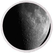 Close-up Of Moon Round Beach Towel