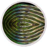 Round Beach Towel featuring the digital art Closed Eye by Wendy Wilton