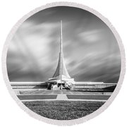 Round Beach Towel featuring the photograph Closed Sails by Steven Santamour