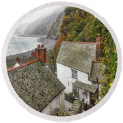 Clovelly Coastline Round Beach Towel