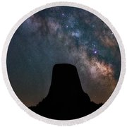 Round Beach Towel featuring the photograph Closer Encounters by Darren White