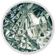 Closeup Of Crystal Garden Decoration Round Beach Towel