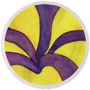 Closeup Of Yellow Rose Round Beach Towel by Versel Reid
