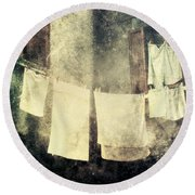 Clothes Hanging Round Beach Towel