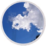 Cloud And Light  Round Beach Towel