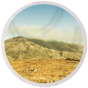 Cloud And Mountain Magnificence Round Beach Towel