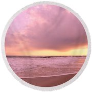 Cloud And Water Round Beach Towel