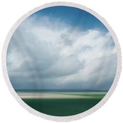 Cloud Bank Over Chatham Round Beach Towel