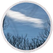 Cloud Chasing - Round Beach Towel