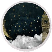 Cloud Cities London Round Beach Towel by Mindy Sommers