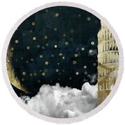 Cloud Cities Pisa Italy Round Beach Towel by Mindy Sommers