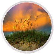 Cloud Colors Round Beach Towel